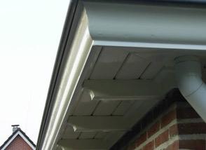 Zink is een zeer geschikt materiaal voor dakgoten.