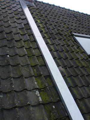 Het verholen van de dakgoot door middel van zinkwerk