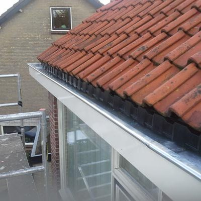 zinken dakgoot met dakvoetprofiel